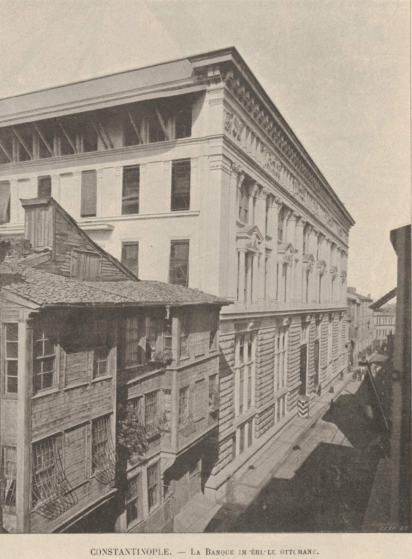 The Ottoman Bank in Constantinople. Le Monde illustré- 5 Sept 1896-La Banque Imperiale Ottomane