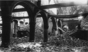 Louvain University Library, destroyed by  the German army in late August 1914.